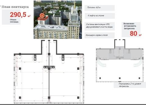 """ЖК """"Сады Пекина"""" - пентхаус 291 кв.м, 13/13 этаж, 1корп. - Фото 1"""