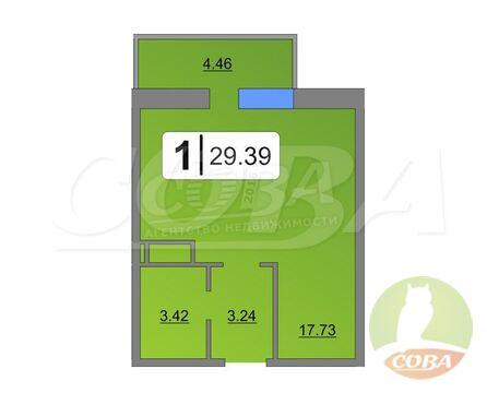 Продажа квартиры, Тюмень, Дмитрия Менделеева, Купить квартиру в Тюмени по недорогой цене, ID объекта - 333087668 - Фото 1