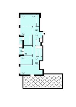 4х комнатная квартира в ЖК City Park - Фото 2