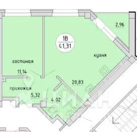 2-к кв. Новосибирская область, Новосибирск Тульская ул, 80с (42.79 м) - Фото 2