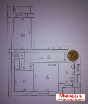 Квартира, ул. Триумфальная, д.28 - Фото 1