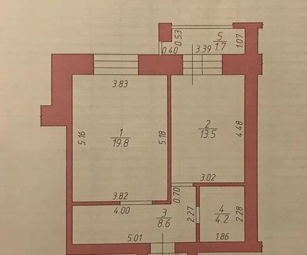 1-комнатная квартира 48 кв.м. 2/9 на ул. Чистопольская, д.68 - Фото 2