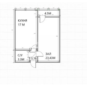Продажа 1-к квартиры по ул. Комарова д.10, 52 м2, 2/9 эт. - Фото 2