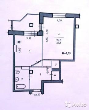 1-к квартира, 51.7 м, 6/10 эт.