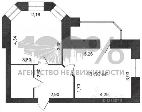1-к кв. Тюменская область, Тюмень ул. Циолковского, 9 (45.8 м) - Фото 2