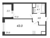 Продажа 1-комнатной квартиры, 43 м2 - Фото 2