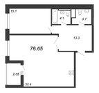 Продажа 1-комнатной квартиры, 76.65 м2 - Фото 1
