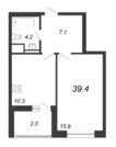 Продажа 1-комнатной квартиры, 39.4 м2 - Фото 2
