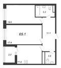 Продажа 2-комнатной квартиры, 65.1 м2 - Фото 2