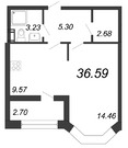 Продажа 1-комнатной квартиры, 36.59 м2 - Фото 1