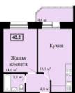Продам 1 комнат квартиру